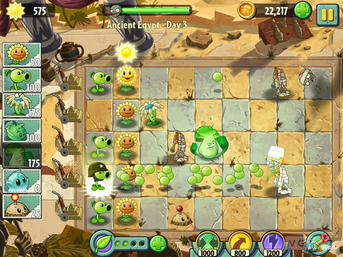 Plants vs Zombies 2 играть онлайн